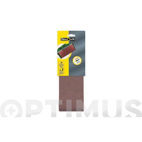 BANDA TELA OXIDO ALUMINIO (BLISTER 2 UN) 75X457- 80