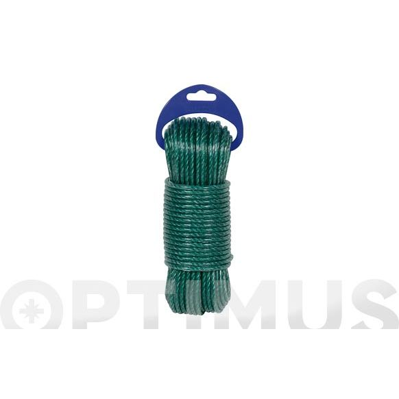 CABLE ACERO PLASTIFICADO 3,5MM 15 MT VERDE
