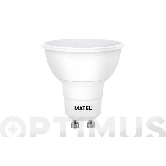 LAMPARA DICROICA LED REGULABLE GU10 8W LUZ BLANCA